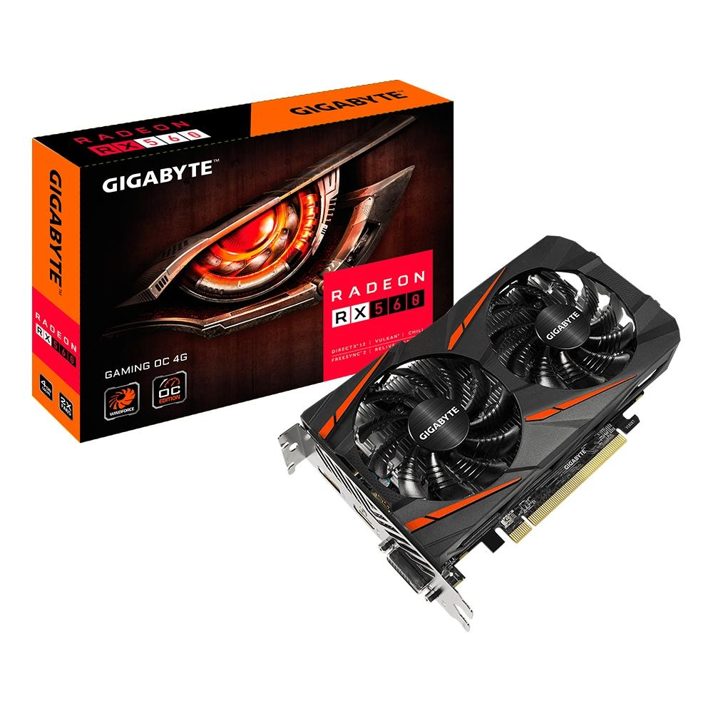 PLACA DE VIDEO GIGABYTE AMD RADEON RX 560 GAMING OC 4G GDDR5 - GV-RX560GAMINGOC-4GD
