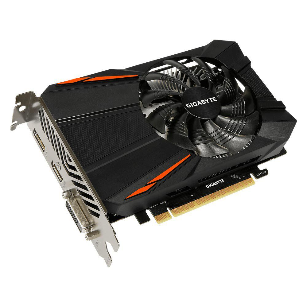 PLACA DE VÍDEO GIGABYTE GEFORCE GTX 1050 D5 2GB GDDR5 128BIT GV-N1050D5-2GD