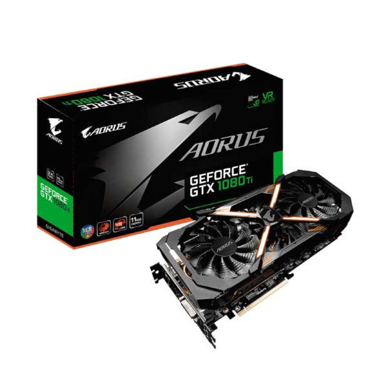 PLACA DE VÍDEO GIGABYTE GEFORCE GTX 1080 TI AORUS WINDFORCE 11GB GDDR5X 352BIT