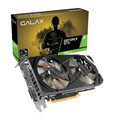 PLACA DE VIDEO GTX 1660 TI 6GB GALAX GDDR6 1-CLICK OC 192-BIT