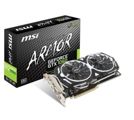 Placa de Vídeo MSI GTX 1060 ARMOR 6GB