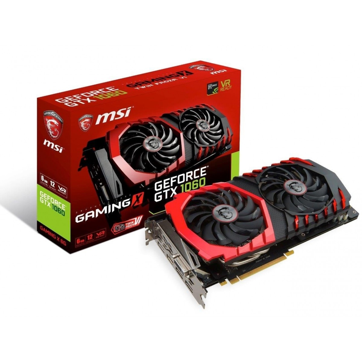 Placa de Vídeo MSI GTX 1060 Gaming X 6gb