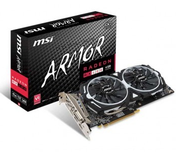 Placa de Video MSI RX 480 4GB OC ARMOR
