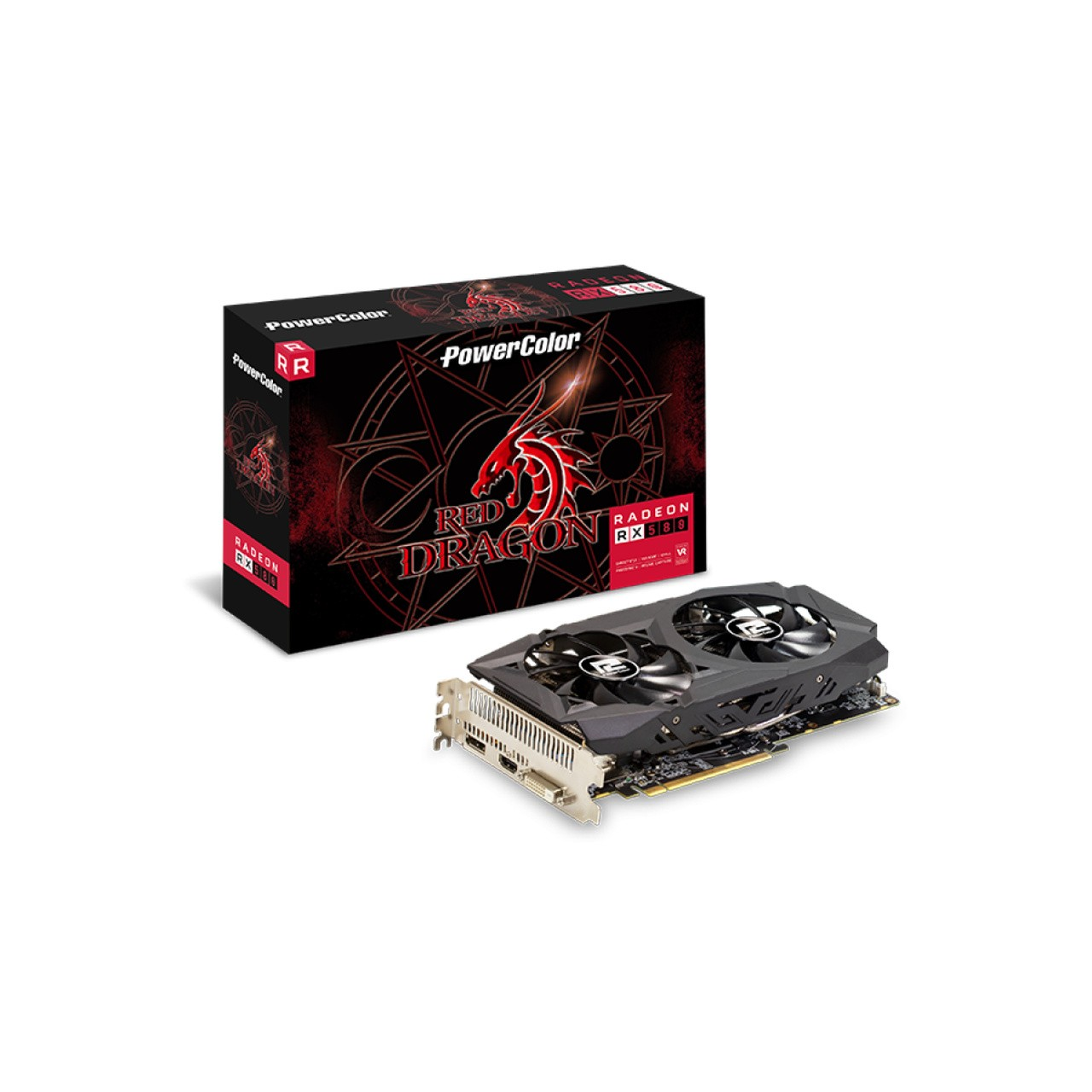 Placa de Video PowerColor Radeon Red Dragon RX 580 8GB GDDR5 256Bit AXRX 580 8GBD5-DHDV2/OC