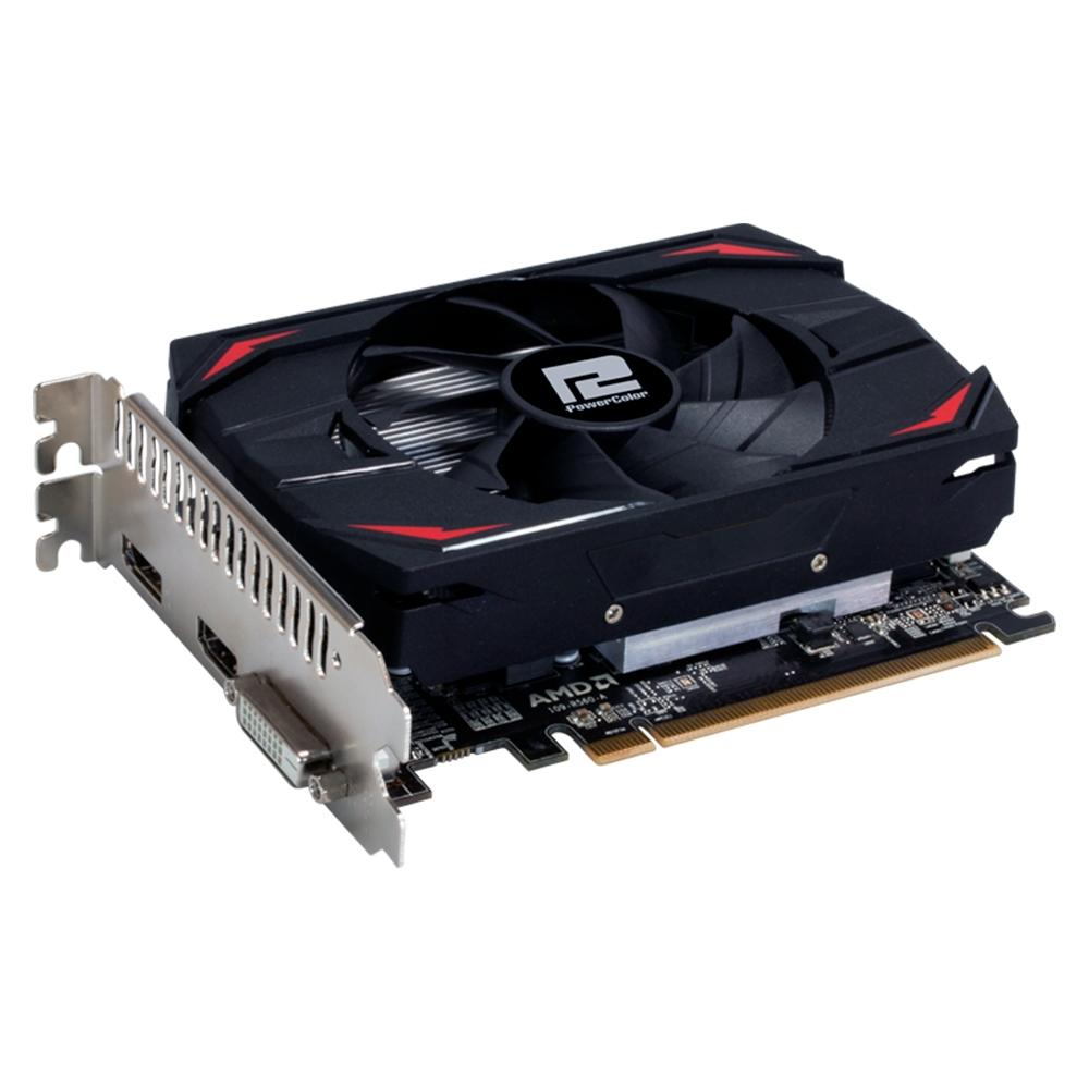 Placa De Video Powercolor Radeon RX 550 2GB Red Dragon 64-BIT AXRX 550 2GB64BD5-DH