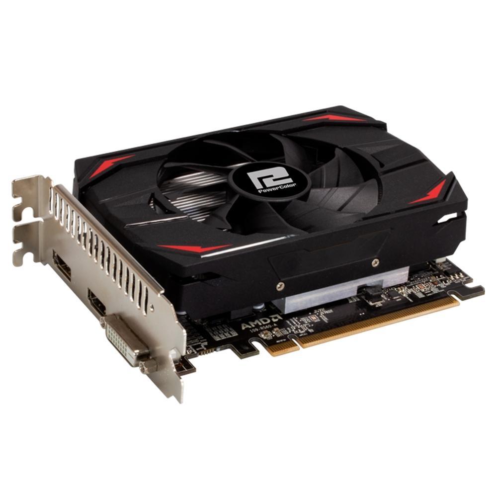 Placa De Video Powercolor Radeon RX 550 4GB Red Dragon 128-BIT AXRX 550 4GBD5-DH