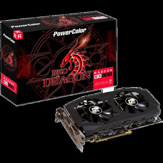 PLACA DE VÍDEO RED DRAGON POWERCOLOR AMD RADEON RX 580 4GB 256 BIT GDDR5 AXRX 580 4GBD5-3DHDV2/OC