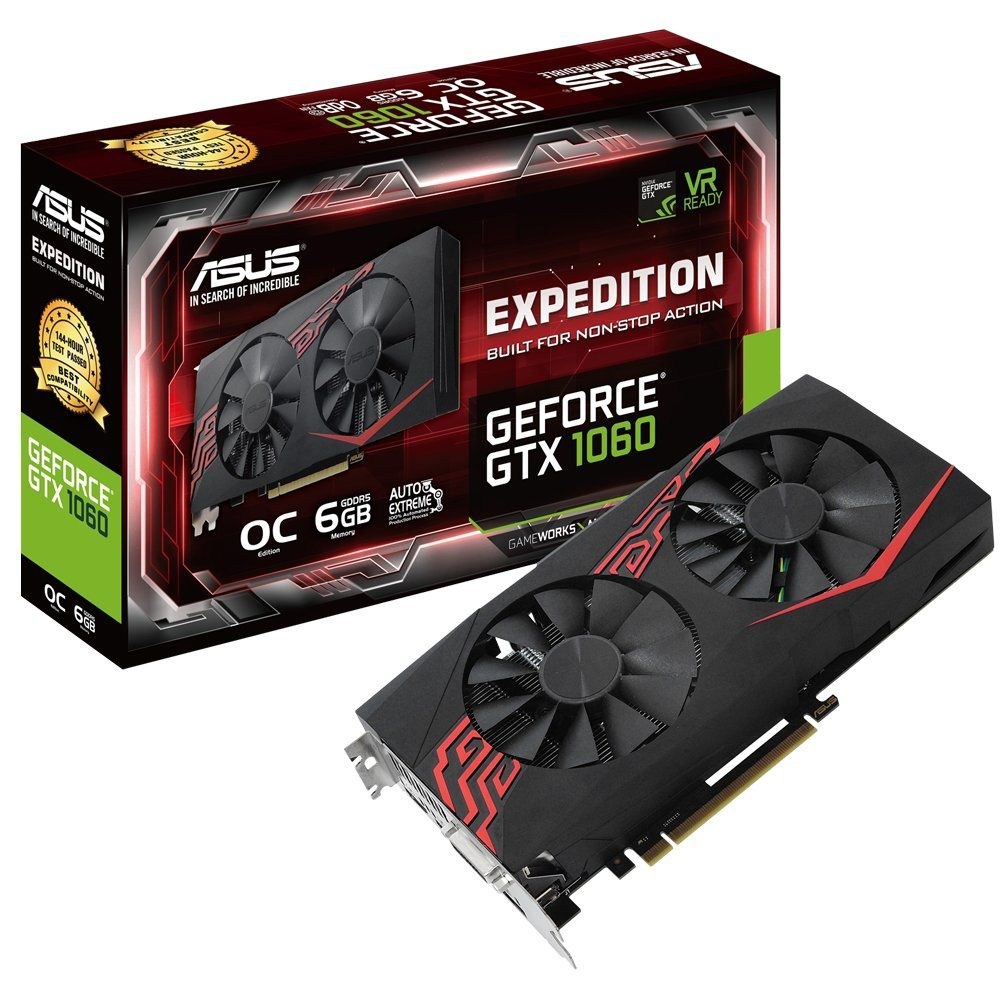 Placa de Video GTX 1060 6GB Nvidia Geforce Asus Expedition OC 6GB GDDR5