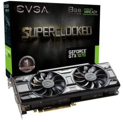 Placa de Video GTX 1070 SC 8GB NVIDIA GeForce GDDR5 -  EVGA Black Edition 08G-P4-5173-KR