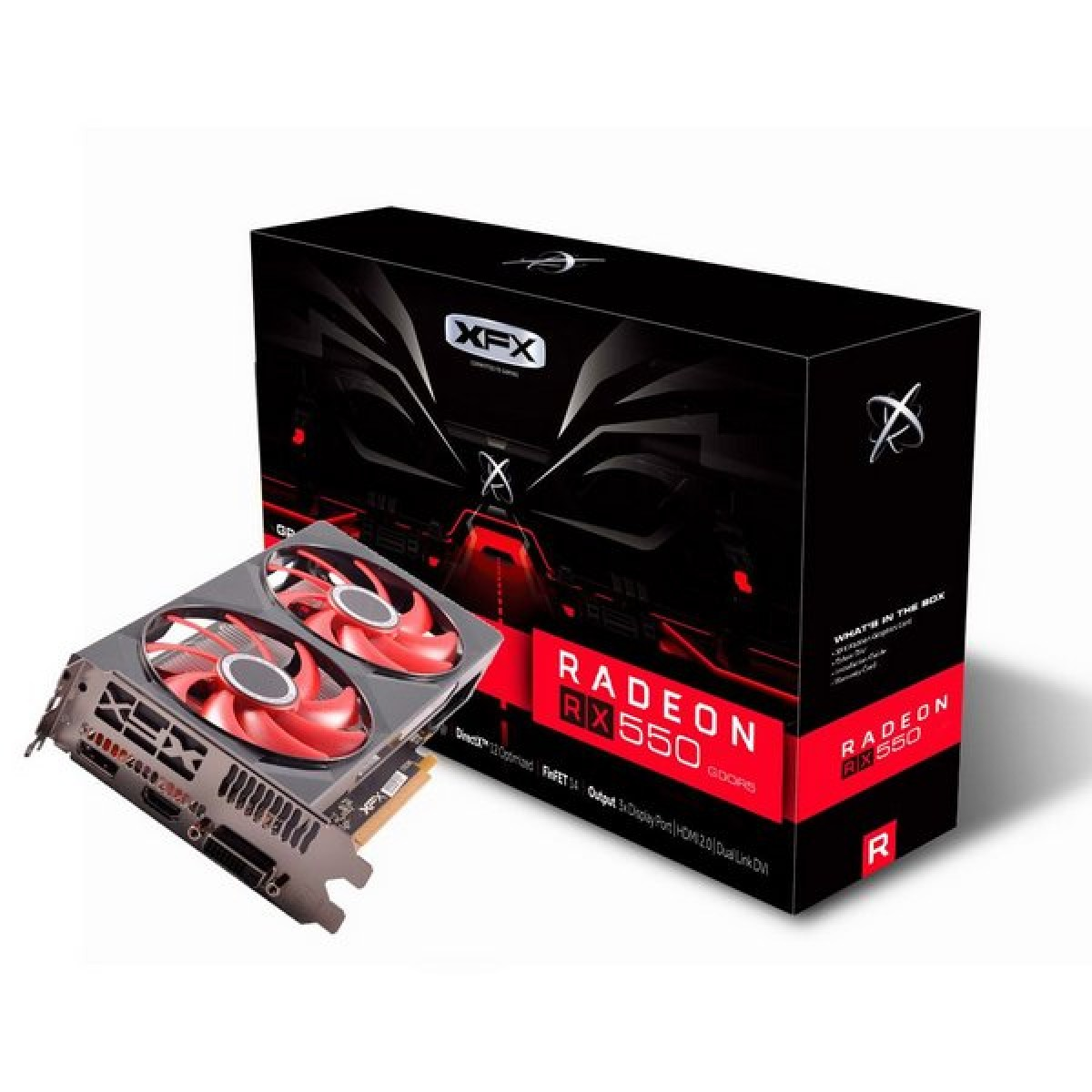 Placa de Video XFX AMD Radeon RX 550 4GB GDDR5 128bit 550P4PFG5