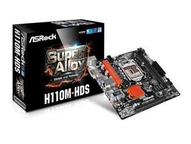 PLACA MAE ASROCK H110M-HDS LGA 1151, CHIPSET INTEL H110