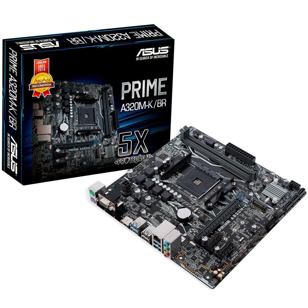 PLACA MAE ASUS PRIME A320M-K DDR4 SOCKET AM4 CHIPSET AMD A320