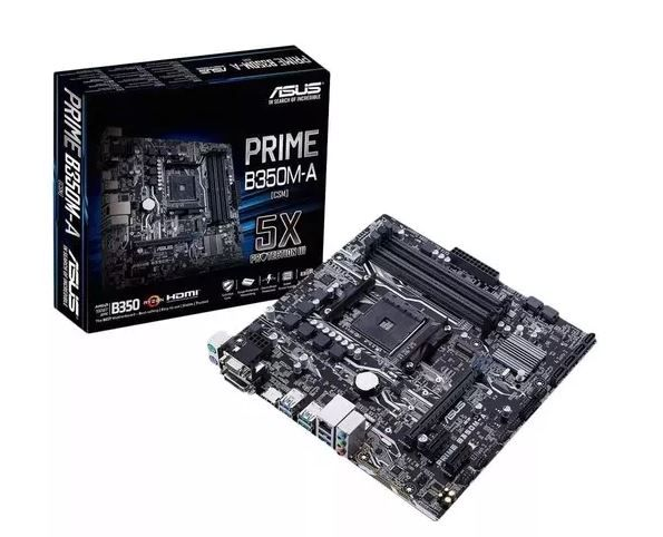 PLACA MÃE ASUS PRIME B350M-A, SOCKET AM4 CHIPSET AMD