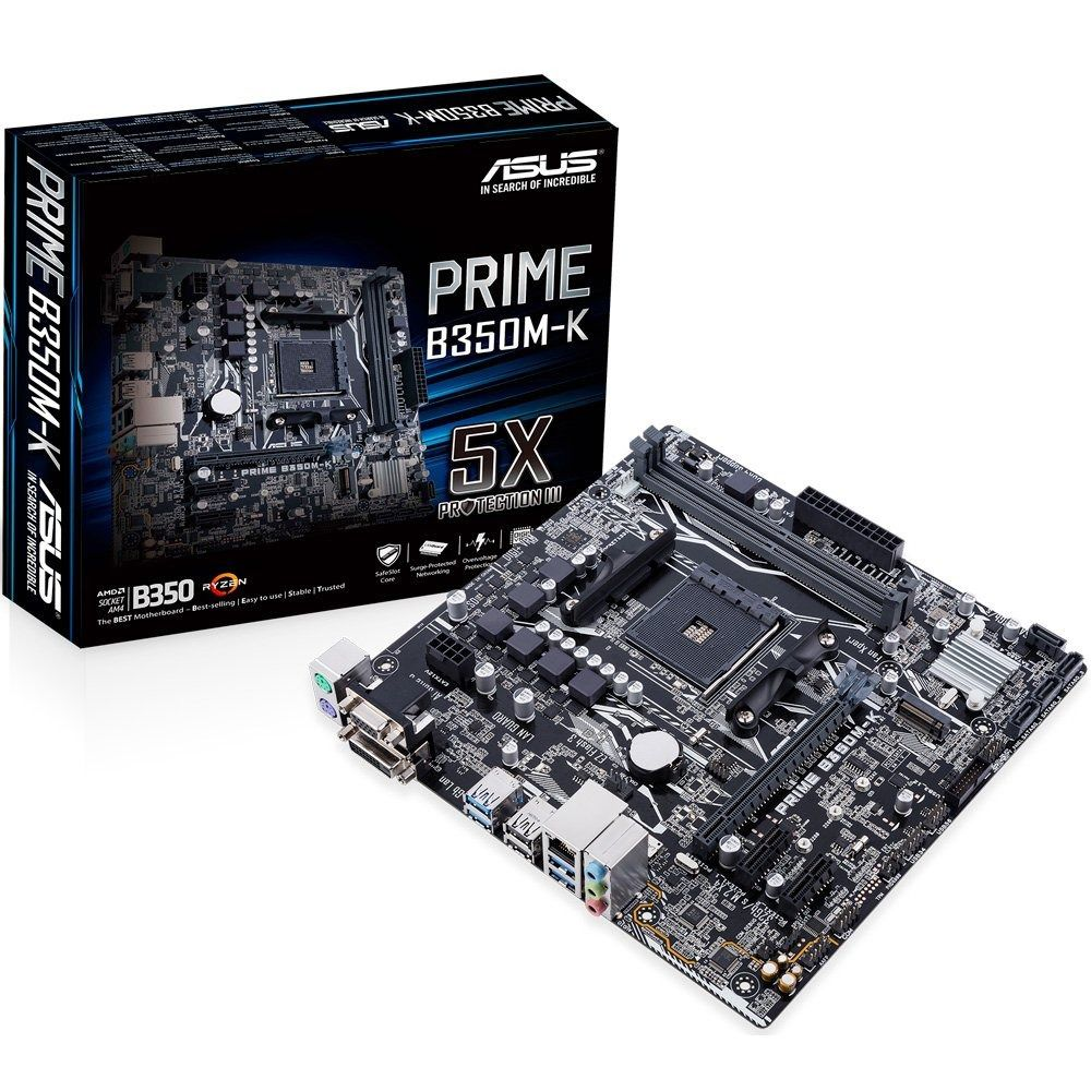 PLACA MÃE ASUS PRIME B350M-K, SOCKET AM4 CHIPSET AMD B350