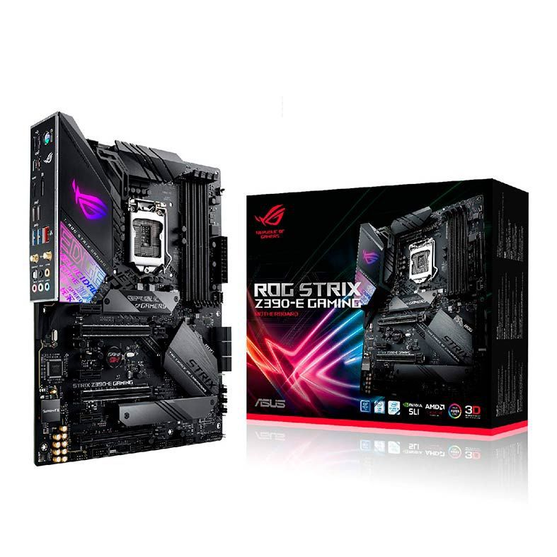 PLACA MÃE ASUS ROG STRIX Z390-E GAMING INTEL LGA 1151 ATX DDR4