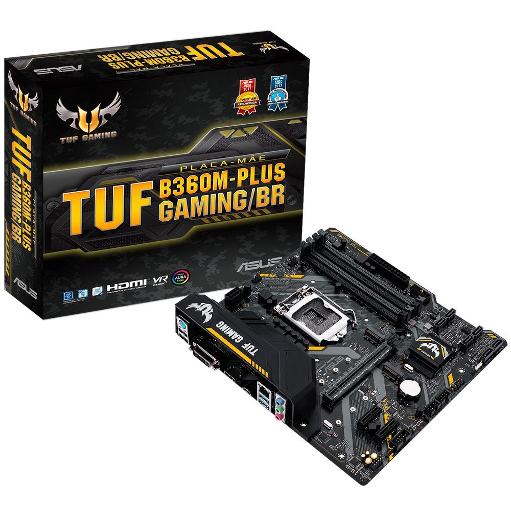PLACA MAE ASUS TUF B360M-PLUS GAMING/BR DDR4 SOCKET LGA1151 CHIPSET INTEL B360