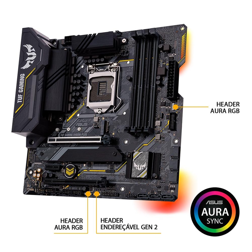 Placa Mae Asus Tuf Gaming B460M Plus DDR4 Socket LGA1200 Intel B460