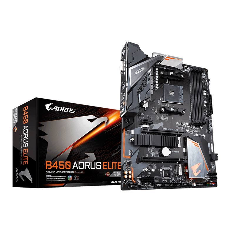 PLACA MAE GIGABYTE B450 AORUS ELITE DDR4 SOCKET AM4 CHIPSET AMD B450