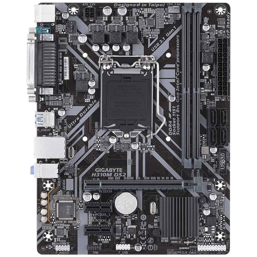 PLACA MÃE GIGABYTE H310M S2H CHIPSET H310 INTEL LGA 1151 MATX, DDR4