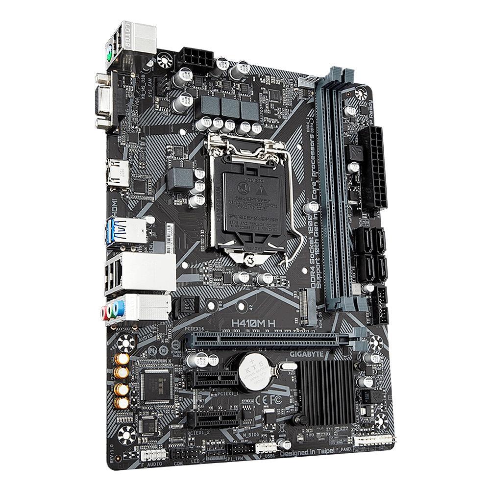 Placa Mae Gigabyte H410M H Intel LGA 1200 Micro ATX DDR4