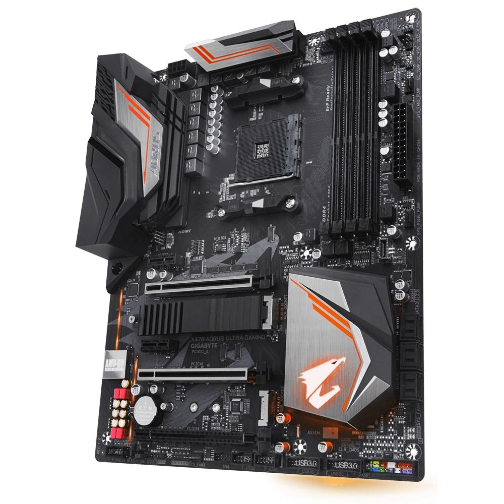 PLACA MAE GIGABYTE X470 AORUS ULTRA GAMING DDR4 SOCKET AM4 CHIPSET AMD X470