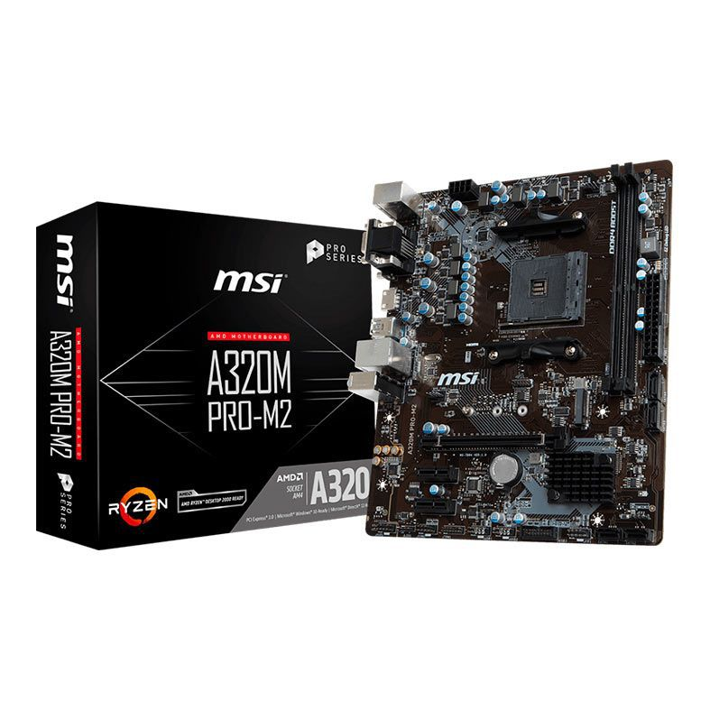 PLACA MAE MSI A320M PRO-M2 DDR4 SOCKET AM4 CHIPSET AMD A320