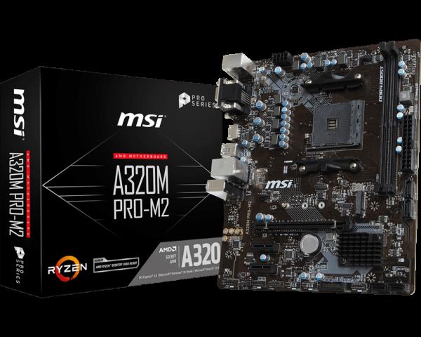 PLACA MAE MSI A320M PRO-M2 DDR4 SOCKET AM4 CHIPSET AMD A320