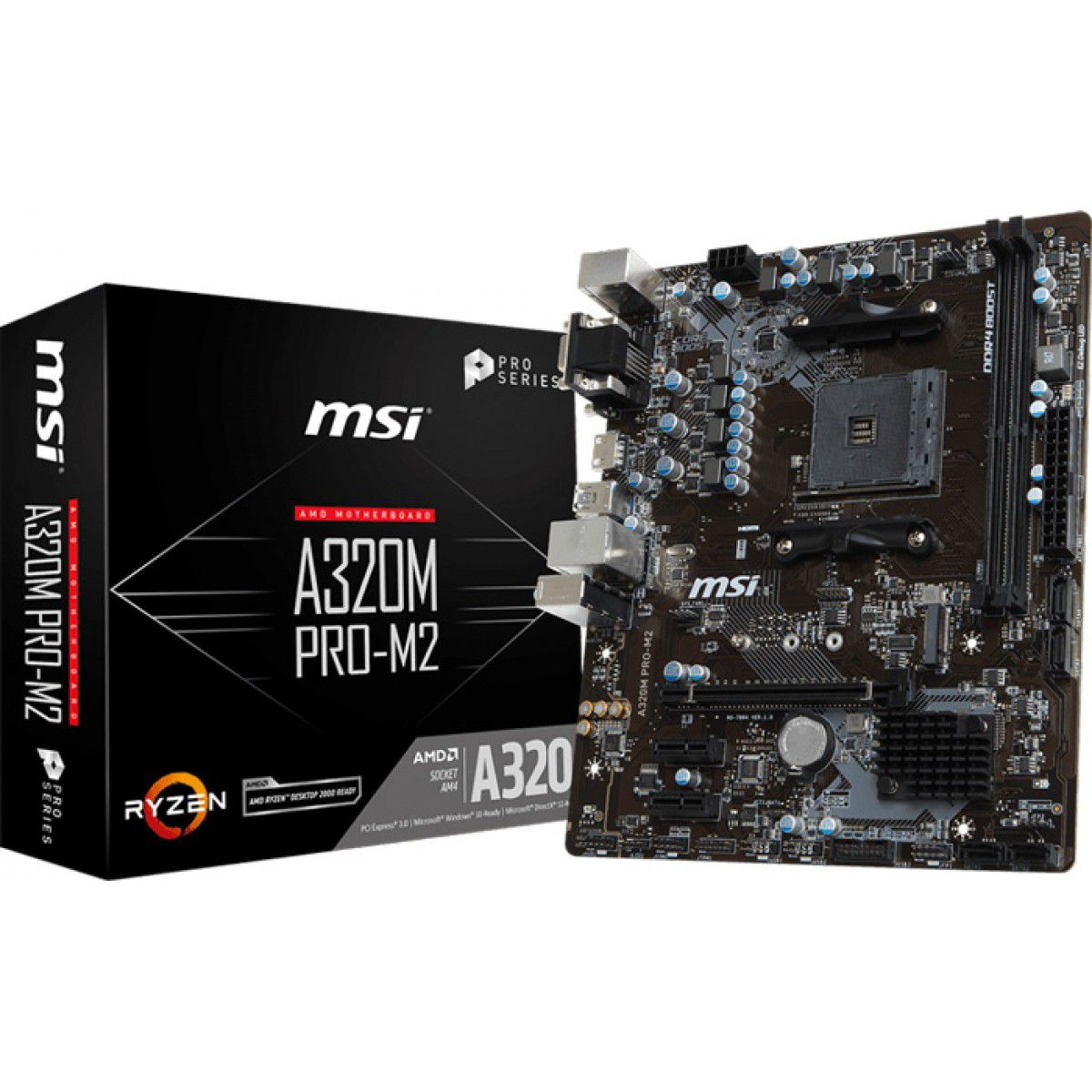 PLACA MAE MSI A320M PRO-M2 V2 DDR4 SOCKET AM4 CHIPSET AMD A320