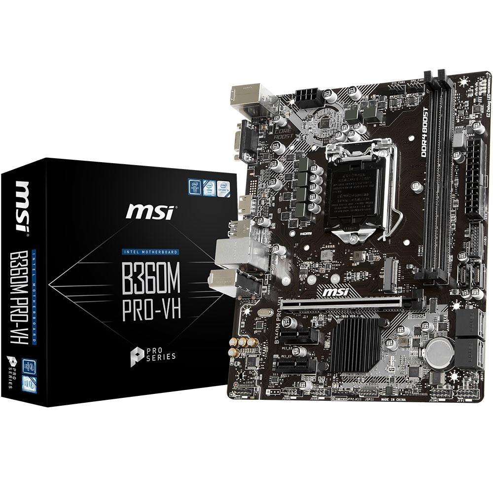PLACA MAE MSI B360M PRO-VH DDR4 SOCKET LGA1151 MATX
