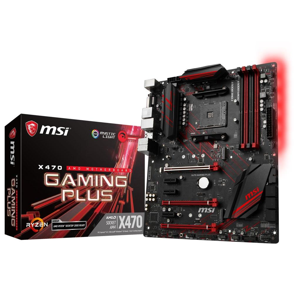 PLACA MAE MSI X470 GAMING PLUS DDR4 SOCKET AM4 CHIPSET AMD X470