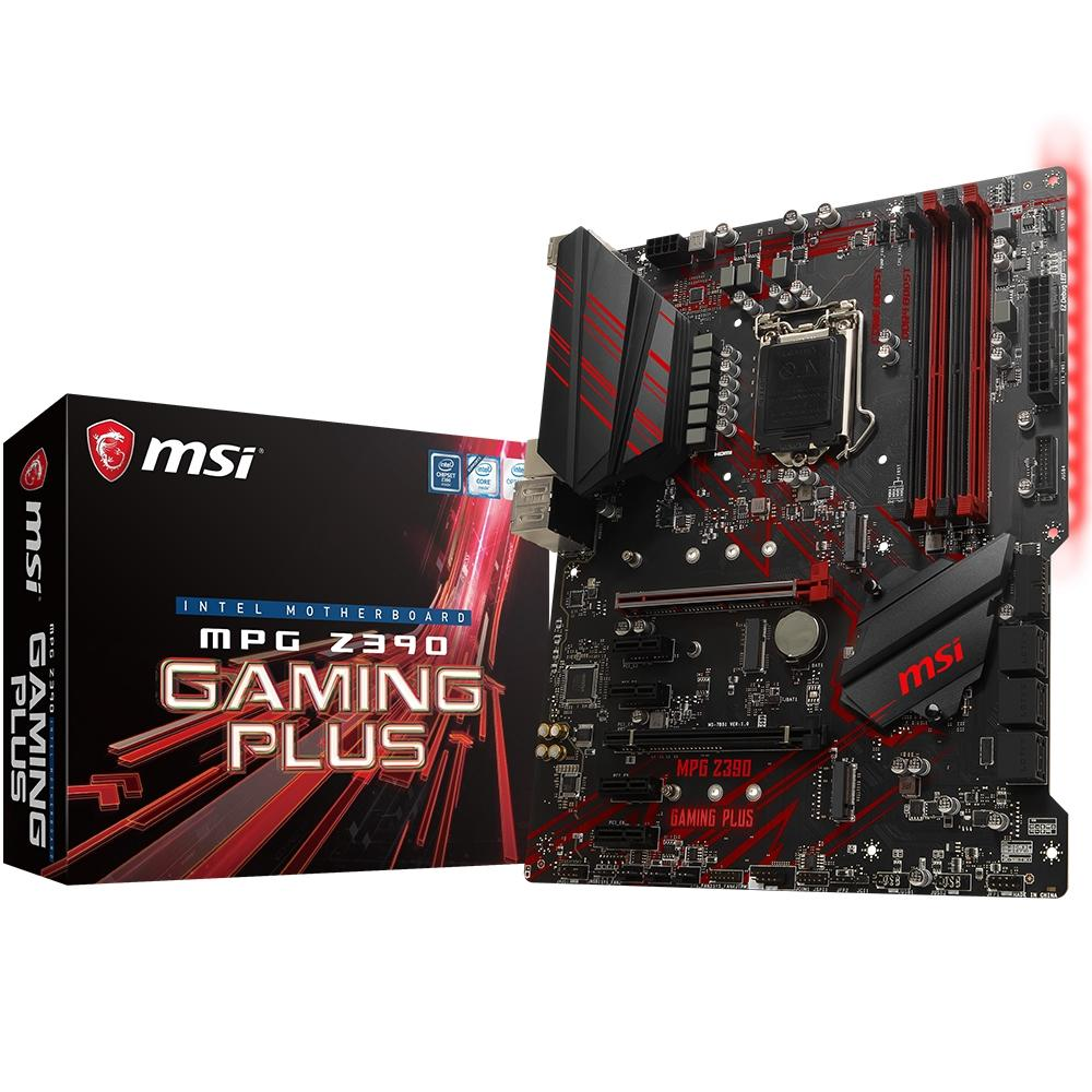 PLACA MÃE MSI Z390 MPG GAMING PLUS CHIPSET Z390 INTEL LGA 1151 ATX DDR4