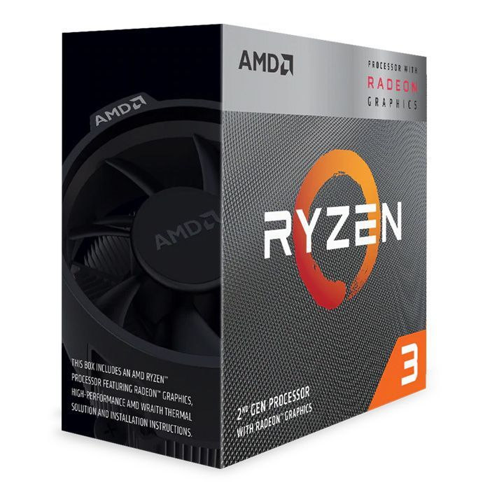PROCESSADOR AMD RYZEN 3 3200G 3.6GHZ (4.0GHZ TURBO) 4-CORE 4-THREAD COOLER WRAITH STEALTH