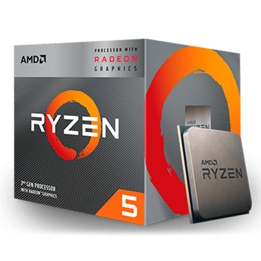 PROCESSADOR AMD RYZEN 5 3400G QUAD-CORE 3.7GHZ (4.2GHZ TURBO) 6MB CACHE