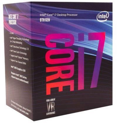 Processador Intel Core i7-8700 8a Geração, Cache 12MB, 3.2GHz (4.6GHz Max Turbo) LGA 1151