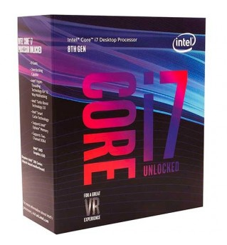 PROCESSADOR INTEL CORE I7-8700K COFFEE LAKE LGA 1151 3.7GHZ 12MB CACHE