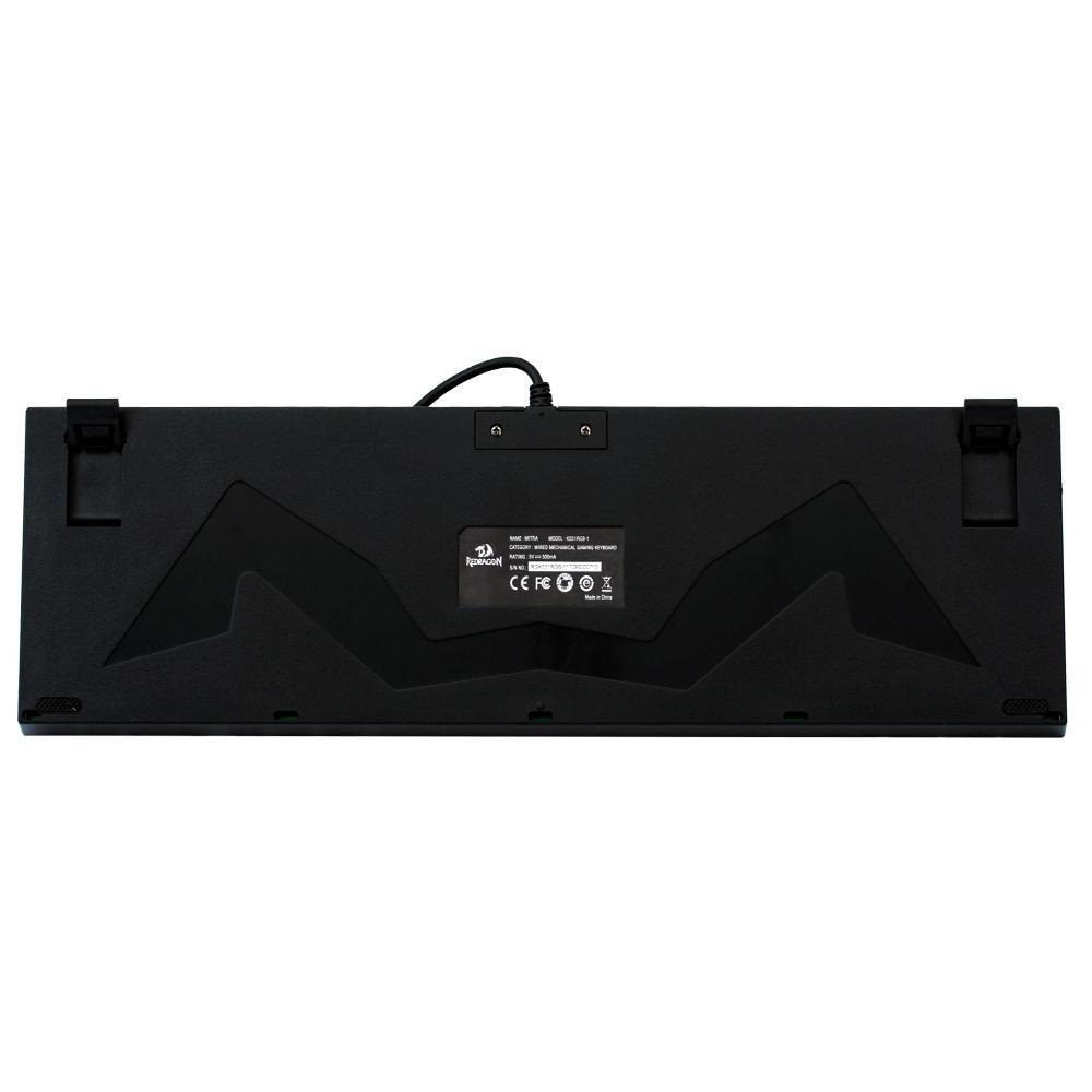 Teclado Mecanico Gamer Redragon Mitra K551 RGB Switch Brown ABNT2