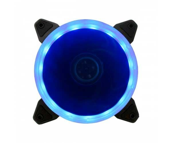 FAN VENTOINHA BLUECASE RING 120MM LED AZUL BFR-05B