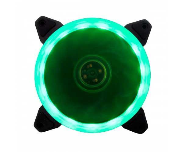 VENTOINHA BLUECASE RING 120MM LED VERDE BFR-05G