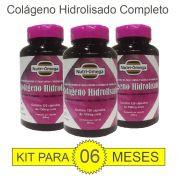 Colágeno Hidrolisado Com  Vitaminas e Minerais Kit Para 06 Meses.