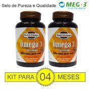 KIT PARA 04 MESES DE ÔMEGA 3 COM ALTO TEOR DE ÔMEGA 3 - EPA 660 DHA 44O.