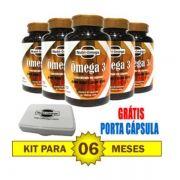 KIT PARA 6 MESES COM 6 FRASCOS DE ÔMEGA 3 CONCENTRADO.