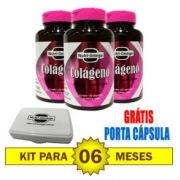 Kit para 06 meses de Colágeno Hidrolisado com Vitaminas e Minerais.