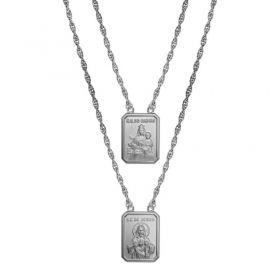 Escapulário Aço S.C. Jesus / N. S. Carmo Medalhas GG 2684760