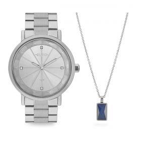 Kit Relógio Euro Prata Feminino EU2035YRX/K3K