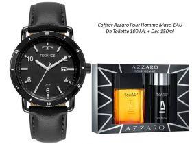 Kit Relógio Masculino Technos + Coffret Azzaro