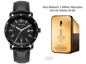 Kit Relógio Masculino Technos + One Million Masculino