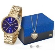 Kit Relógio Mondaine Feminino 94970LPMVDE3K1