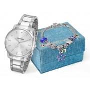 Kit Relógio Mondaine Feminino + Pulseira 53576L0MKNE3K1