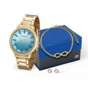 Kit Relógio Mondaine Feminino Pulseira Infinito 53533LPMVDE3K5