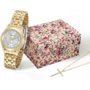 Kit Relógio Seculus Feminino + Cordão 20395LPSVDA1K1
